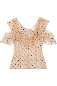 swiss dot blouse mccall loyal lover cold shoulder swiss dot silk organza