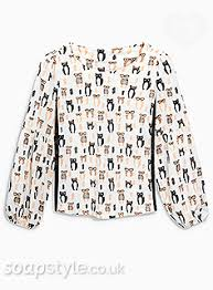 cat blouse soapstyle coronation tracy barlow s clothes