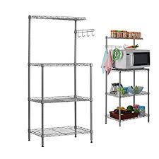 Bakers Rack Amazon Amazon Com Aries 3 Tier Bakers Rack Utility Microwave Stand