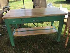 Kitchen Cutting Block Table by Antique Butcher Block Ebay
