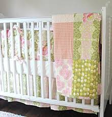 Custom Crib Bedding Sets And Pink Chain Custom 3 Crib Bedding Set