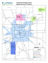 Map Indianapolis Water Service Territory Map Citizens Energy Group
