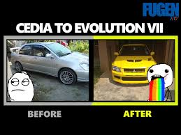 mitsubishi lancer cedia modified mitsubishi cedia to evolution conversion fugen tv youtube
