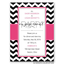 Engagement Party Invites Sharp Chevron Petite Engagement Party Invitation Invitations By Dawn