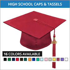 high school graduation caps high school graduation cap gown and tassels gradshop