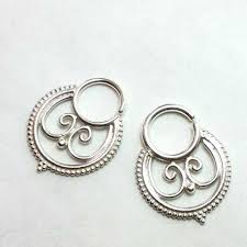 silver piercing rings images Bold lakshmi silver septum ring patapatajewelry jpg