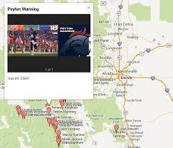 the denver broncos colorado 14ers map honors bowl