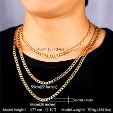 figaro mens necklace images Kpop men 39 s high quality filled chunky necklaces chains gold silver jpg