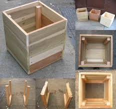 diy wood planter box home design styles