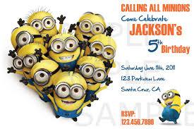 pretty cartoon general minions birthday party invitation card for