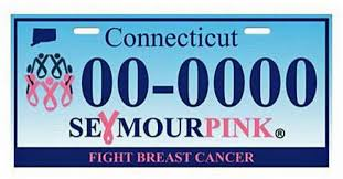 Ct Vanity License Plate Lookup Seymour Pink Offers Breast Cancer License Plate Connecticut Post