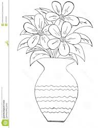 easy flower vase drawing drawing of flowers in vase drawing art