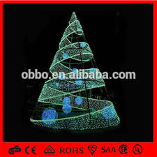 china manufacturer led green spiral tree with hanging