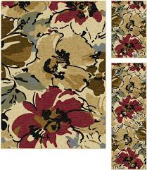 add a natural element to your style with this three piece rug set