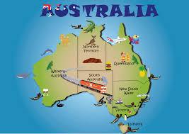 aussie map aussie map major tourist attractions maps