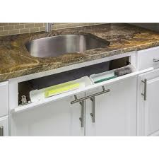 kitchen sink cabinet tray white 14 kitchen sink cabinet front tip out tray tilt out sponge holder replace