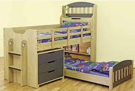 Midi Bunk Beds Single Toby Cabin Midi Sleeper Bunk With Single Low Bed