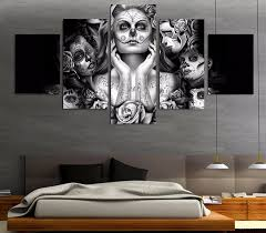 day of the dead home decor day of the dead wall art canvas print home decor poster dia de los