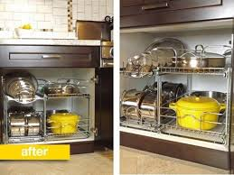 kitchen cabinet storage solutions lowes before after a better way to organize pots and pans in