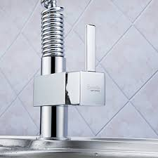 spring pull down kitchen faucet brass pull down kitchen faucet with color changing led light