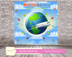 airplane baby shower decorations airplane digital backdrop airplane birthday airplane party