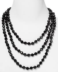 black beaded necklace images Carolee black faceted bead rope necklace 72 where to buy how jpg