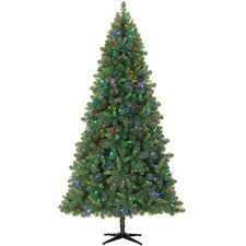 7 5 ft pre lit green kensington pine artificial