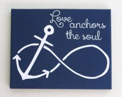 5x7 Love Anchors The Soul - anchor love quote etsy