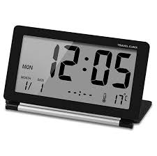 Ceebon travel clock folding mini silent desk travel electronic
