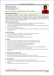 exle of curriculum vitae in malaysia resume format for a resume