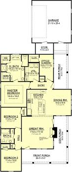 country floor plans baby nursery side split floor plans country style house plan