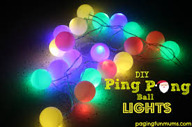 how to make adorable lights using ping pong balls