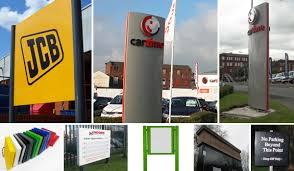 pole sign pole signs totem poles uk sign warehouse