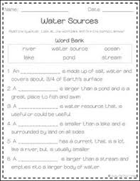 all about water sources book game posters u0026 worksheets rivers