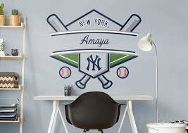 New York Yankees Home Decor New York Yankees Personalized Name Wall Decal Shop Fathead For