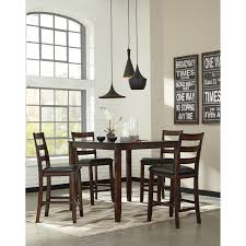 No Dining Room Burnished Brown 5 Piece Dining Room Counter Table Set By Signature