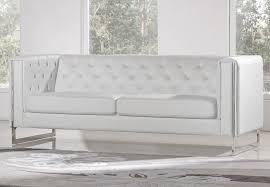 Chelsea White Sofa With Metal Leg - Chelsea leather sofa