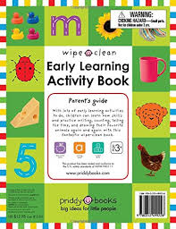 amazon com wipe clean early learning activity book wipe clean