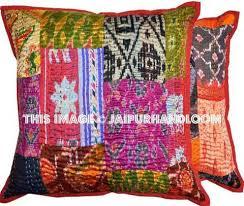 16x16 decorative patchwork throw pillows