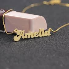 nameplate necklace plated aliexpress buy custom solid name necklace 925 silver