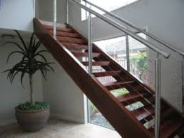 Wire Banister Stainless Steel Wire Railing Stairway Wooden Steps Staircase
