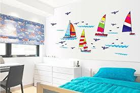 chambre a coucher promotion pegatina promotion autocollant mural motif voiles fan 32260 pour