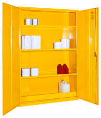 Yellow Flammable Storage Cabinet Dangerous Flammable Substance Coshh Storage Cabinets Seton Uk