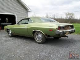 Dodge Challenger 1973 - 73 dodge challenger original unmolested survivor v 8 buckets and