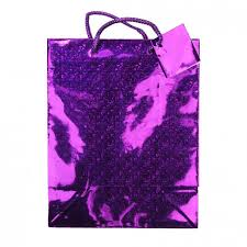 purple gift bags small purple metallic gift bag poundstretcher