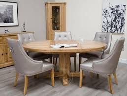 Round Dining Table Oak Solid Oak Round Dining Table
