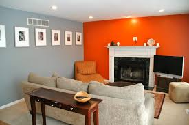 grey orange living room mine pinterest orange living