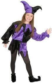 Jester Halloween Costume Black Purple Jester Kids Costume Costume Craze