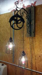 pulley system light fixtures lighting light fixture made from old pulley love pulleys so