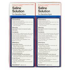 equate saline solution twin pack 12 fl oz 2 count walmart com